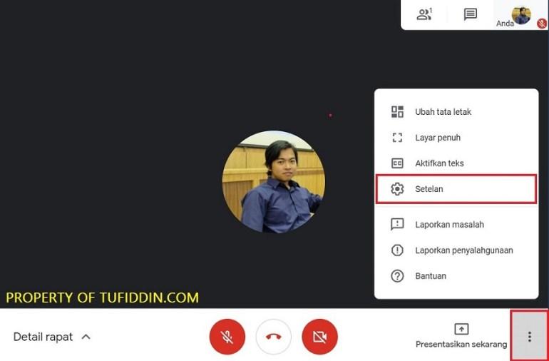 Ubah mikrofon Google Meet