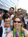 UL, clockwise: Jad Mourad, Spencer Nice, Leigh Ortiz, Betsi Graves (friend of TUSDM)