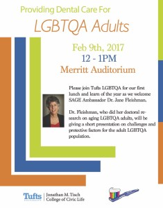 Lunch & Learn: Treating the Aging LGBTQA Population @ Merritt Auditorium