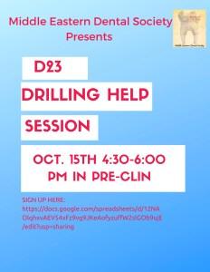 MEDS D23 Drilling Help Session @ Pre-Clin; 8th Floor