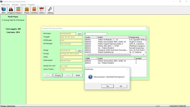 Source Code Sistem Informasi Perpustakaan VB6