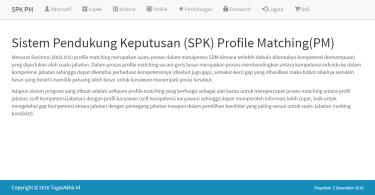 Sistem pendukung Keputusan Profile Matching