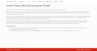 Sistem Pakar Metode Dempster Shafer dengan PHP