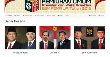 Source Code E-Voting Kepala Daerah dengan PHP