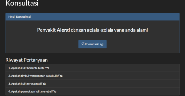Sistem Pakar Backward Chaining PHP