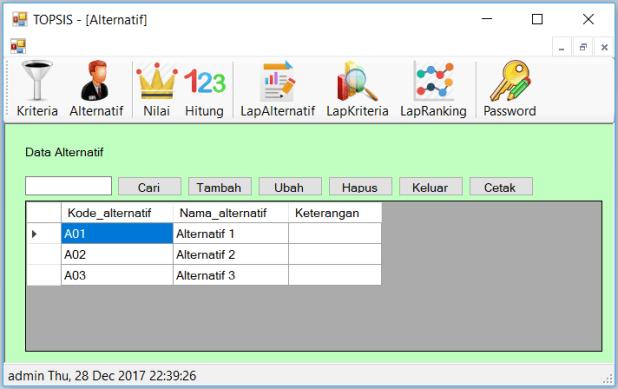 Source Code SPK Metode TOPSIS C Sharp FrmAlternatif