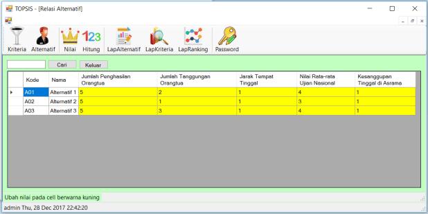 Source Code SPK Metode TOPSIS C Sharp FrmRelAlternatif