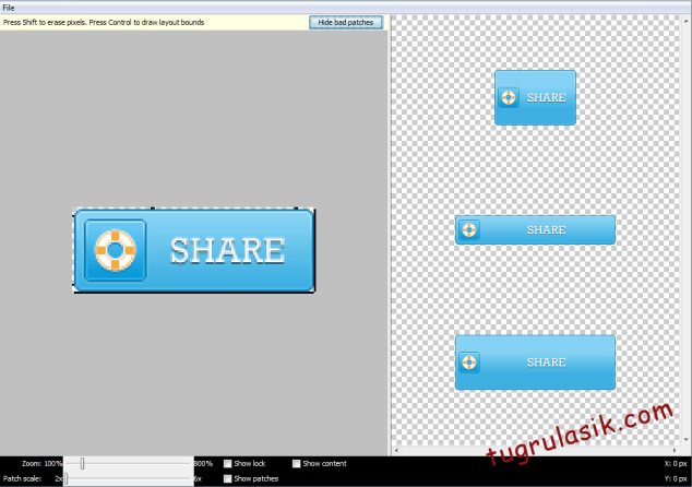 Android_tugrul_9patch_customshare_s