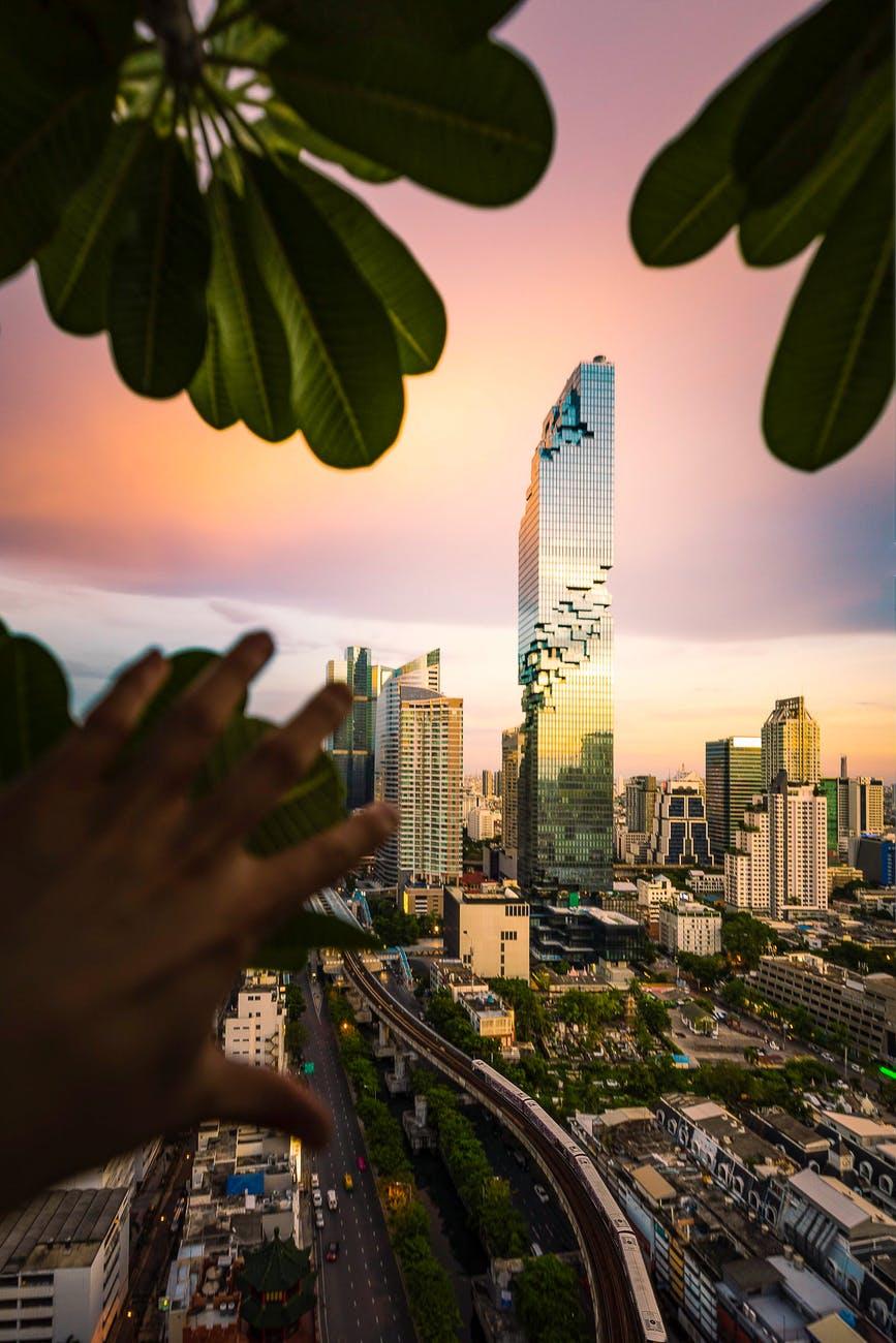 El edificio mahanakhon en Bangkok.