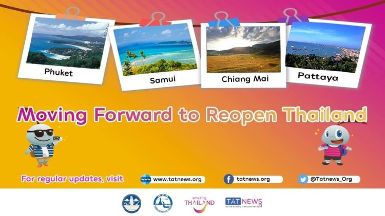 Tailandia confirma plan de reapertura a partir del 1 de julio de 2021