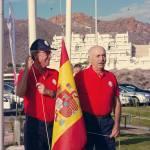 161106 AGU, Izado bandera española