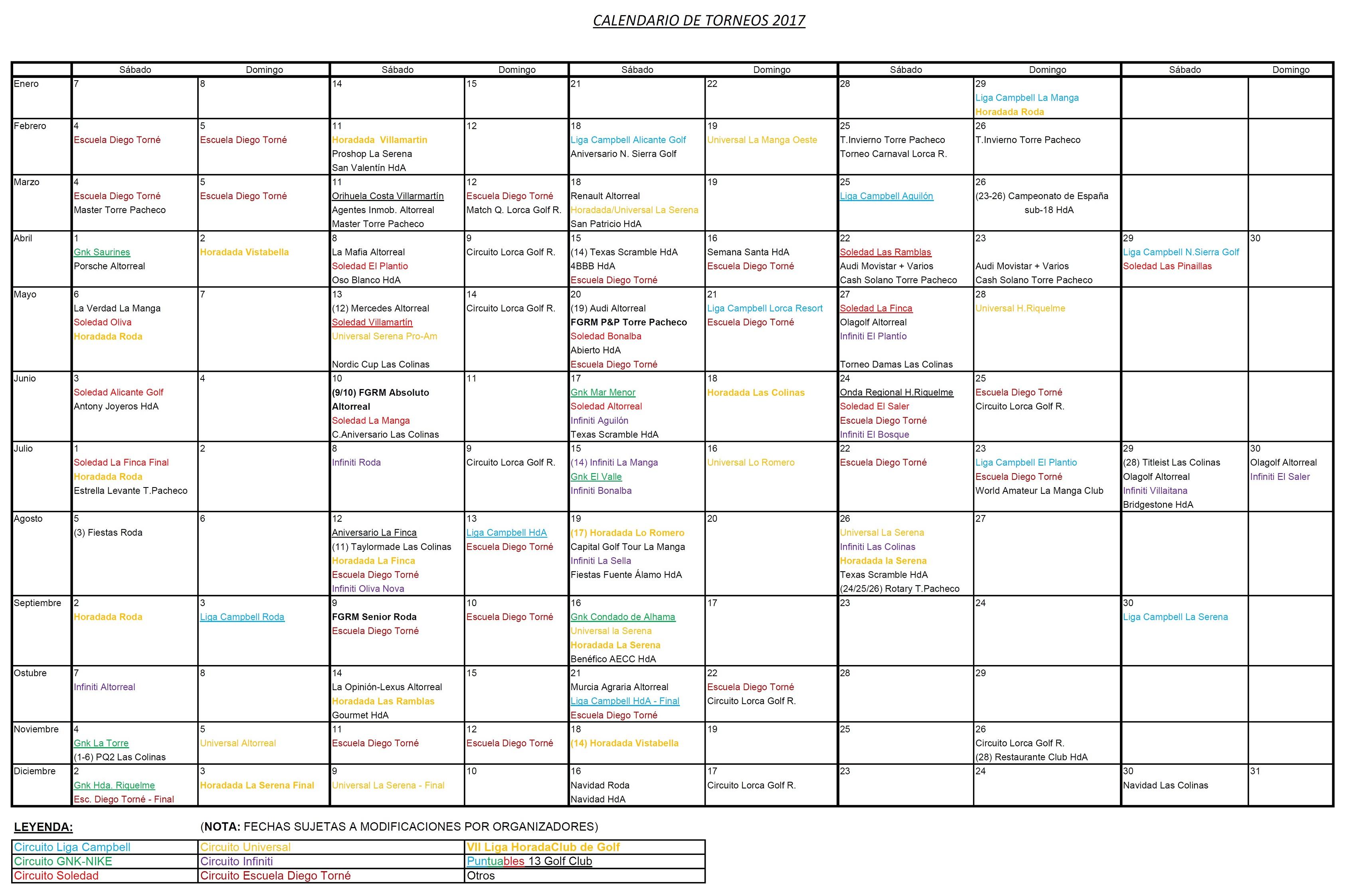170328 Actualización de Calendario de Torneos
