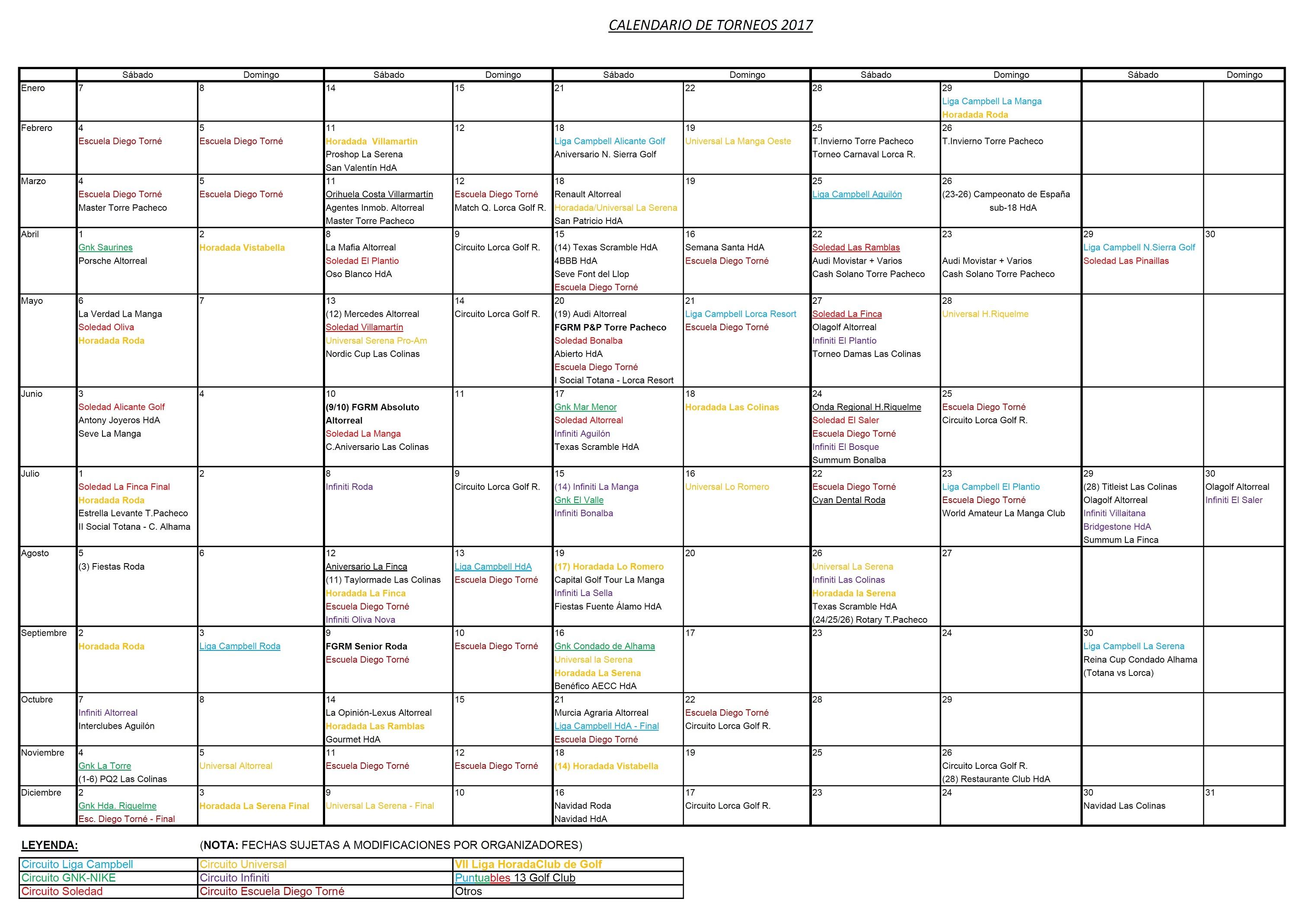170411 Actualización de Calendario de Torneos