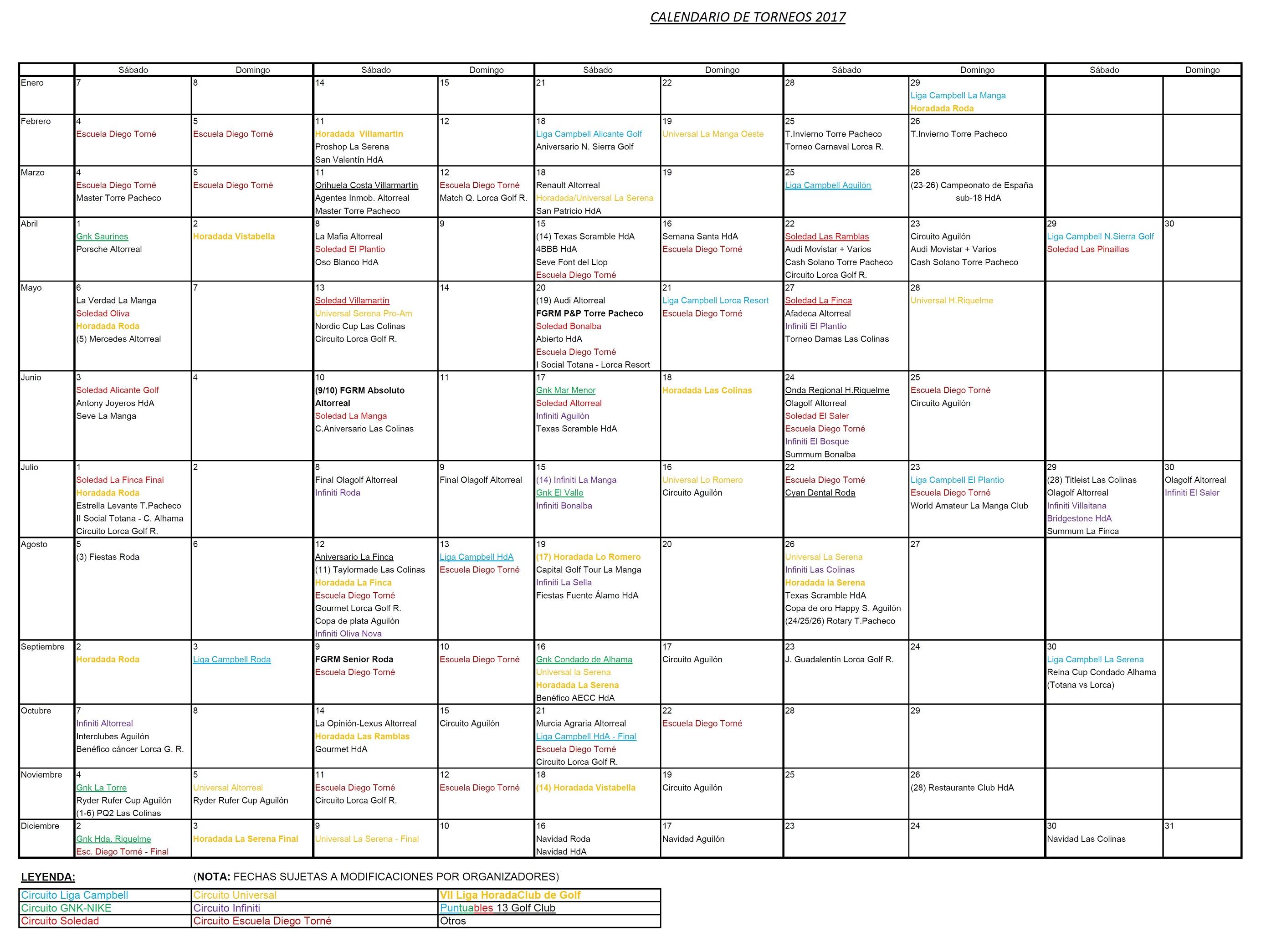 170418 Actualización de Calendario de Torneos