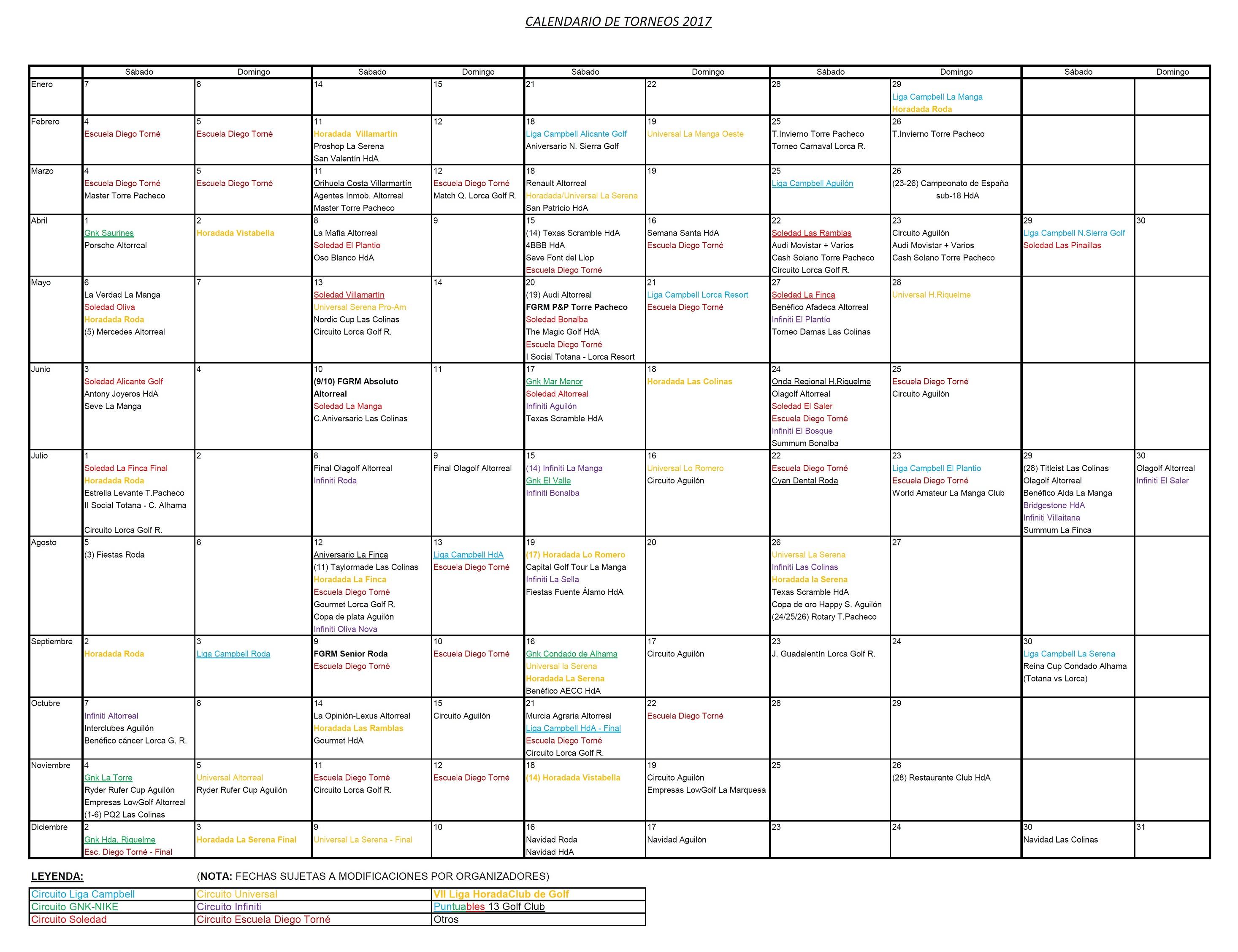 170509 Actualización de Calendario de Torneos
