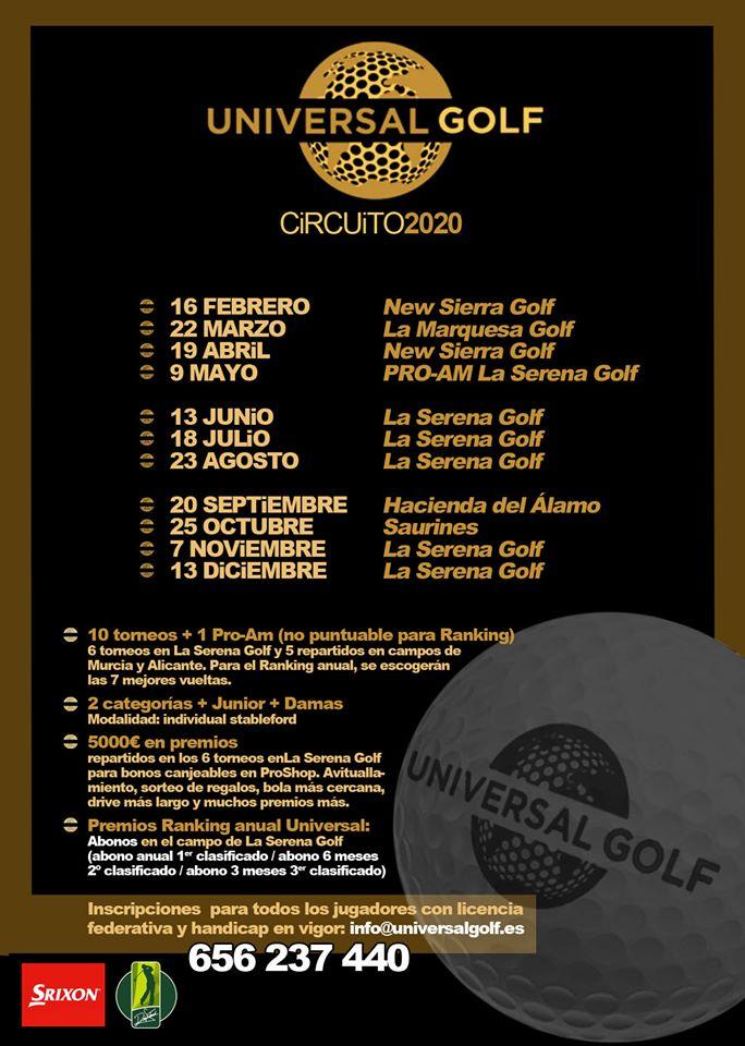 200216 SER, Calendario Universal Golf