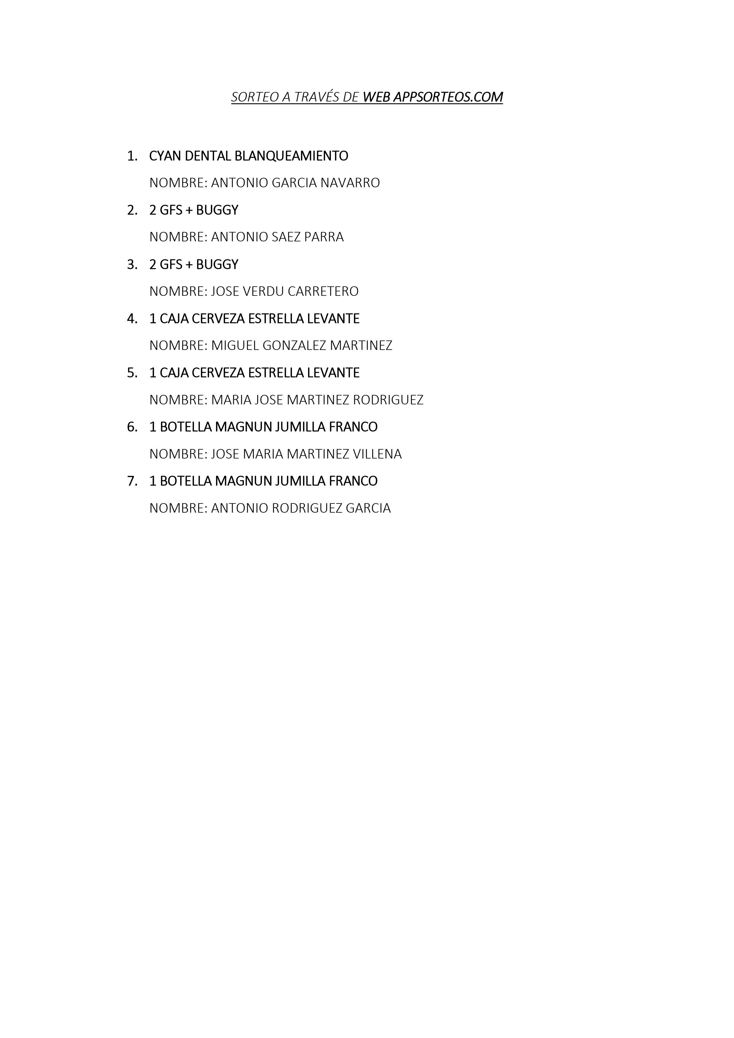 200614 LTO, Listado de premios (2)