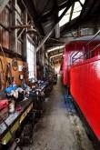 Un petit hobby local à Oamaru: la rénovation artisanale de vieux trains