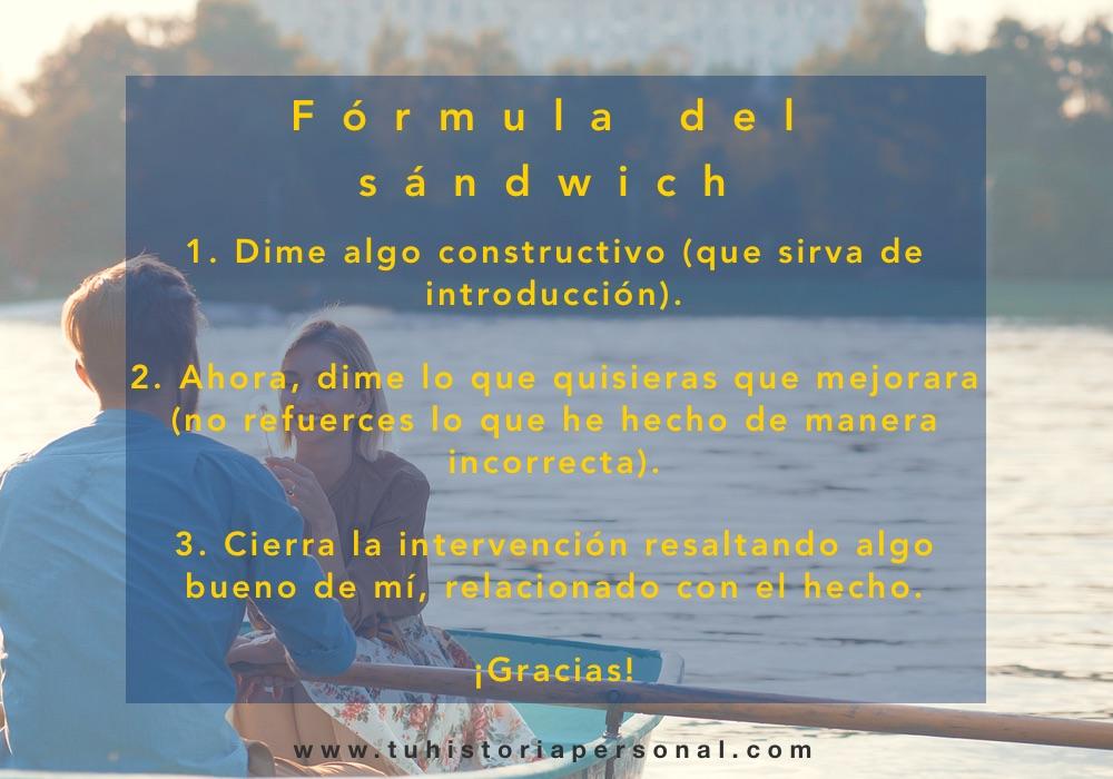 El sándwich para comunicarnos con asertividad