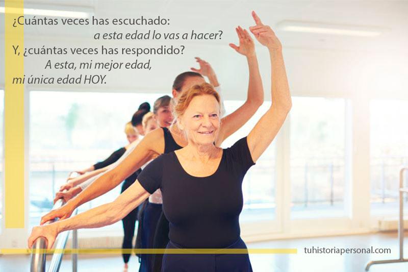 Bailarina mayor dejando atrás sus creencias limitantes