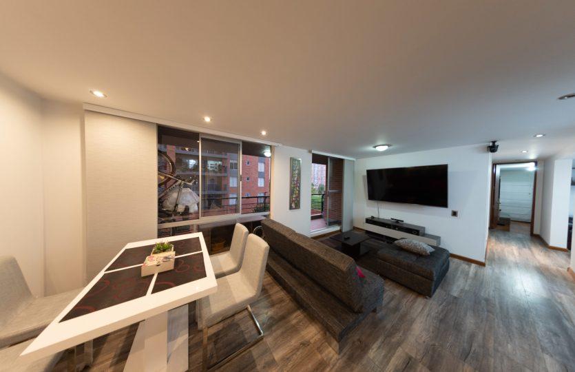 Se vende Apartamento en Pontevedra Bogota de 103m2 Sala
