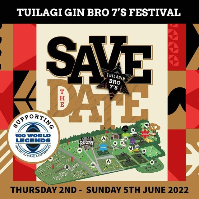 Have you got the dates in your diary yet? Tuilagi Gin Bro 7's Festival @tuilagi_rugby_festival ☆ Thursday 2nd - Sunday 5th June 2022 @ Tuilagi Laird Park,Wood Lane, Norton Disney, Lincoln, LN6 9JP ☆ Proudly supporting @100worldlegends