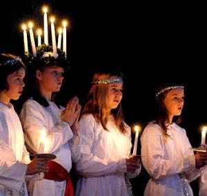 St Luciafeest en Samenkomst van de H.Rozenfamilie