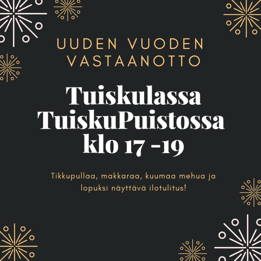 Perinteinen uuden vuoden ilotulitus Tuiskulassa