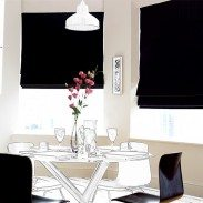 Decadence is beautifully soft fine velvet and it will hang in silky folds at your window. This opulent fabric plays with the light wonderfully giving the roman blind lustrous appeal. This blind is a must for cosy glamour in the most luxurious of rooms.