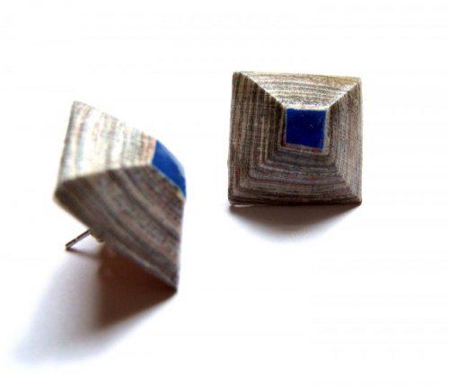 Tehuti Square Stud Earings