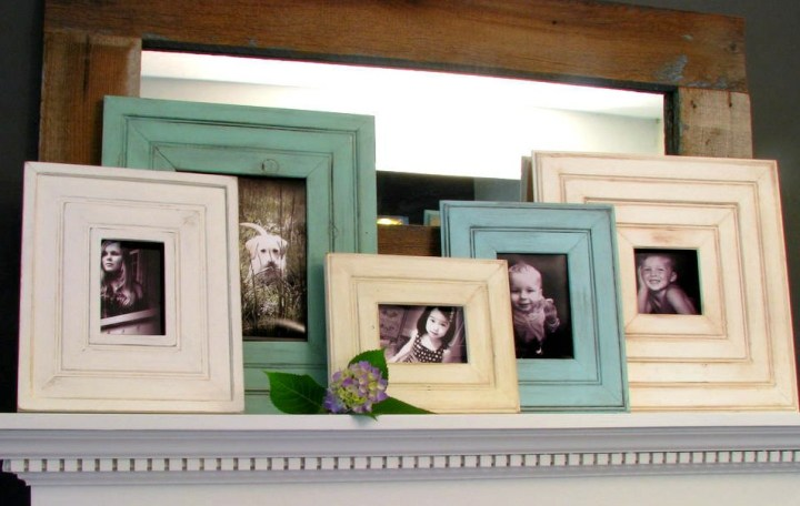 beadboard frame mantle display