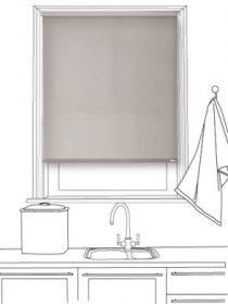 Habitat Modest Grey Roller Blind
