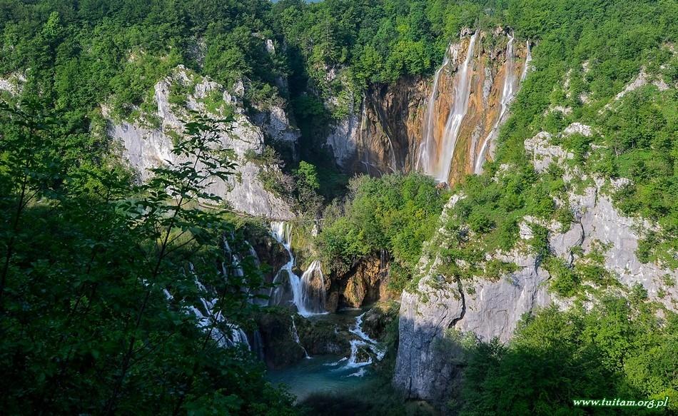 Plitwickie jeziora - przy Wielkim wodospadzie