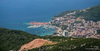 Czarnogóra - widok na Budvę