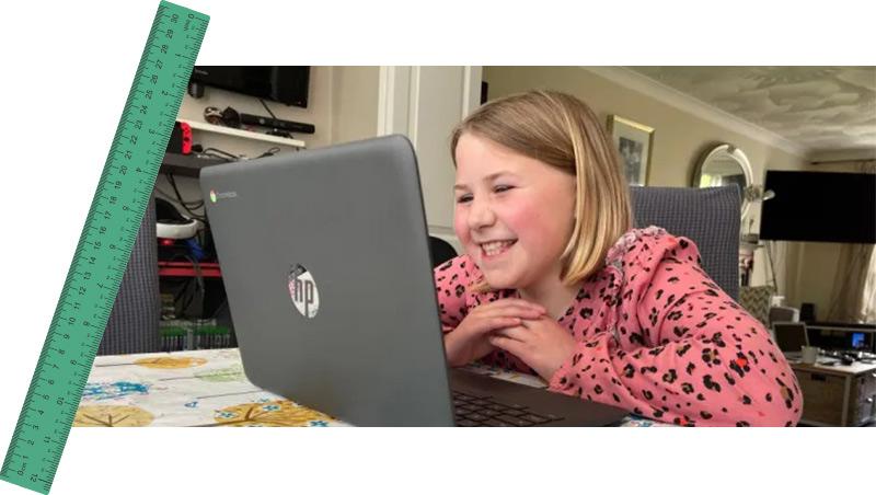 Eliza during maths tutoring