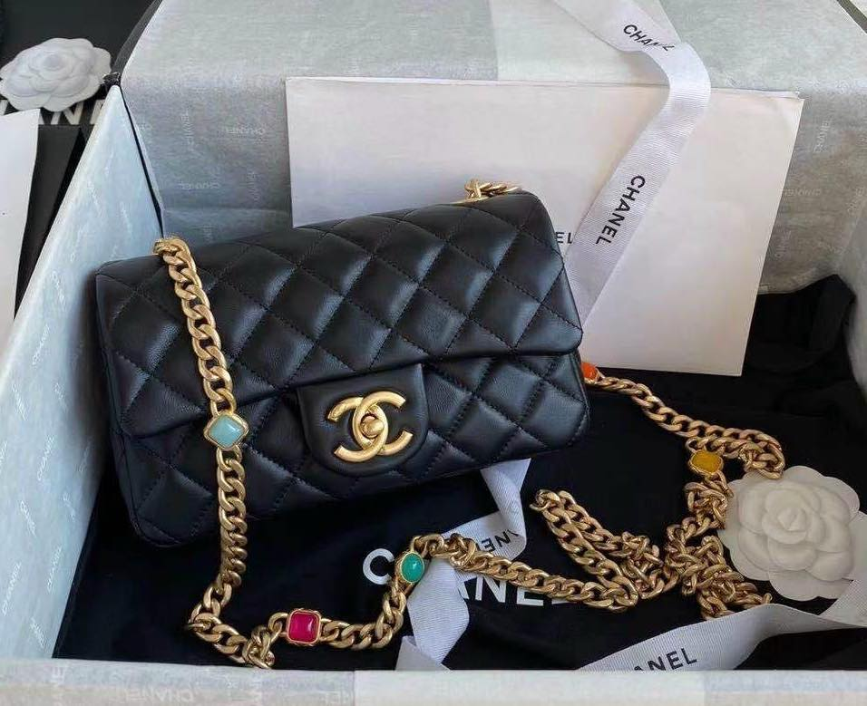 Túi Chanel FLAP BAG WITH RESIN & GOLD