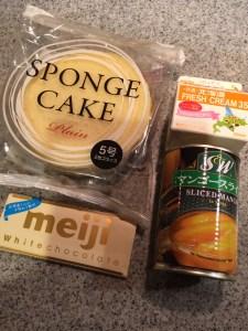 ひし形のひな祭りケーキの材料