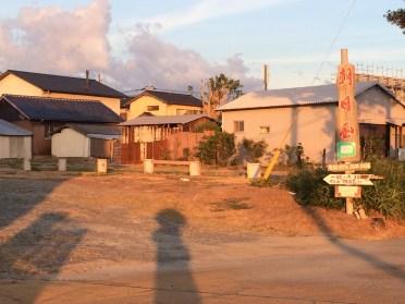 糸島の朝日屋の駐車場
