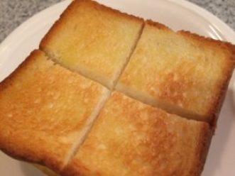 バルミューダで焼いたトースト①