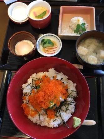 糸島のランチのイカ丼定食