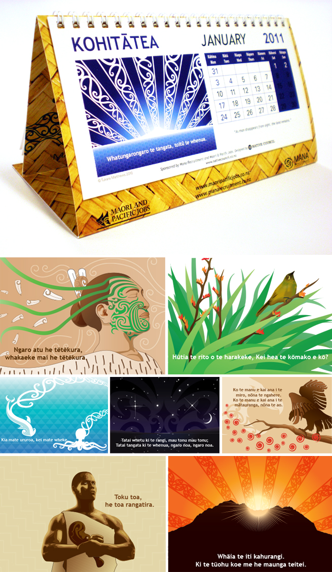 Maori-Calendar-Illustrations-2010-2011