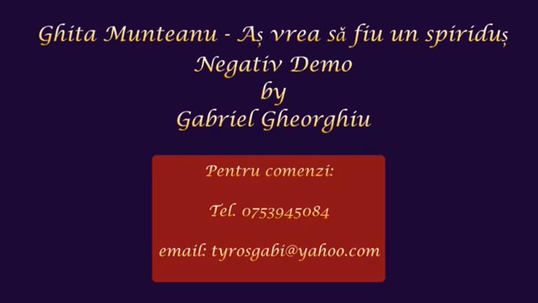 As vrea sa fiu un spiridus – Ghita Munteanu – Negativ Karaoke Demo by Gabriel Gheorghiu