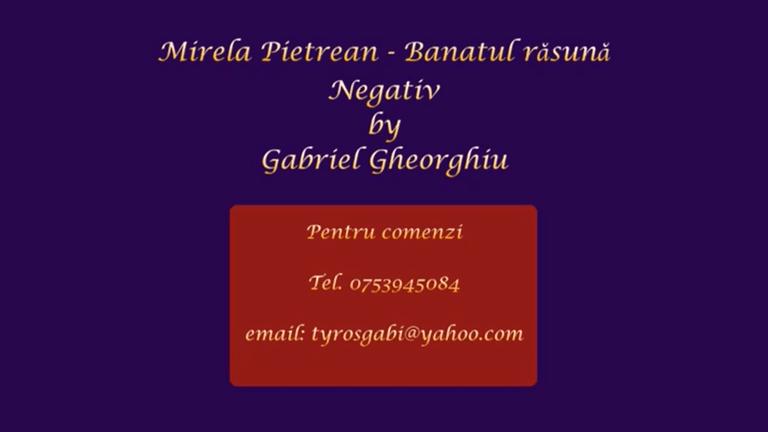 Banatul rasuna – Mirela Petrean – Negativ Karaoke Demo by Gabriel Gheorghiu