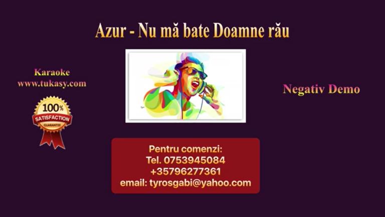 Nu ma bate, Doamne, rau – Azur – Negativ Karaoke Demo by Gabriel Gheorghiu