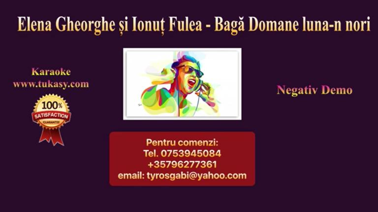Baga, Doamne, luna-n nori – Elena Gheorghe si Ionut Fulea – Negativ Karaoke Demo by Gabriel Gheorghiu