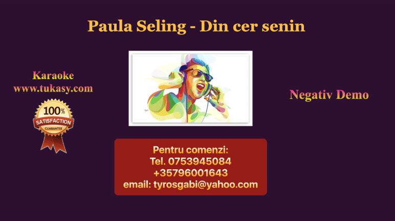 Din cer senin – Paula Seling – Negativ Karaoke Demo by Gabriel Gheorghiu