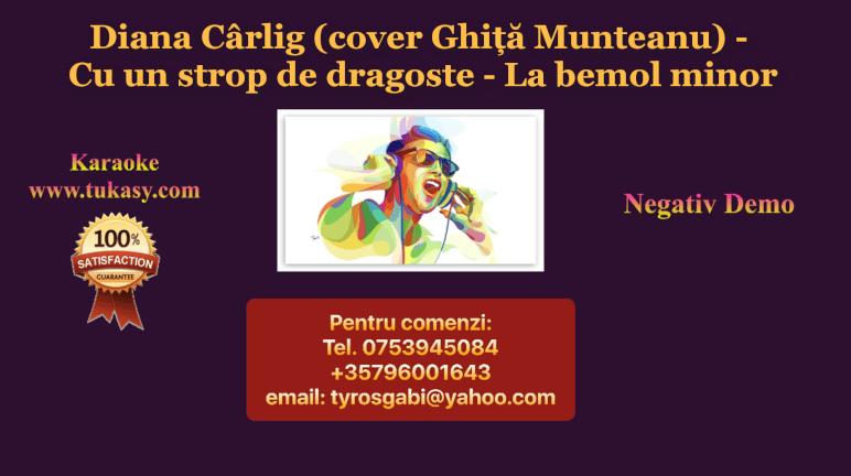 Diana Carlig (cover Ghita Munteanu) – Cu un strop de dragoste Lab minor – Negativ Karaoke Demo by Gabriel Gheorghiu
