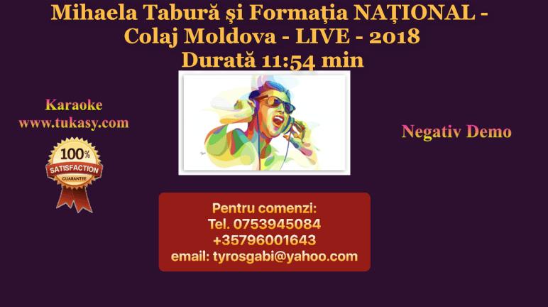 Colaj Moldova LIVE 2018 – Mihaela Tabura si Formatia NATIONAL