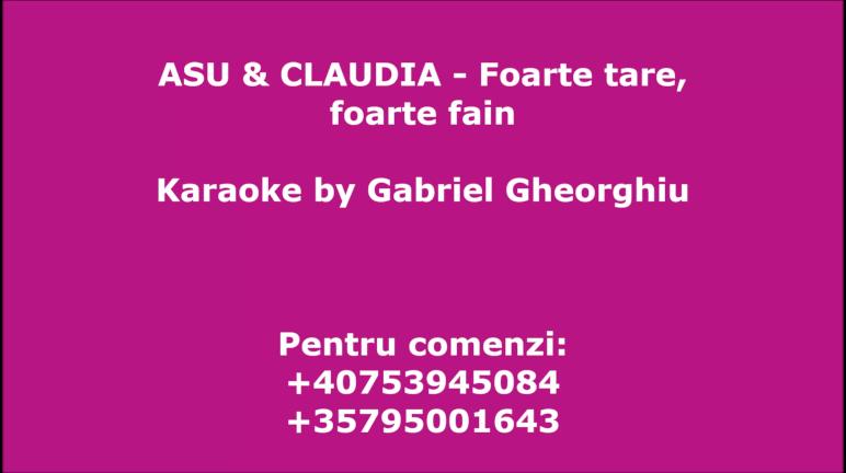 Foarte tare, foarte fain – Asu si Claudia