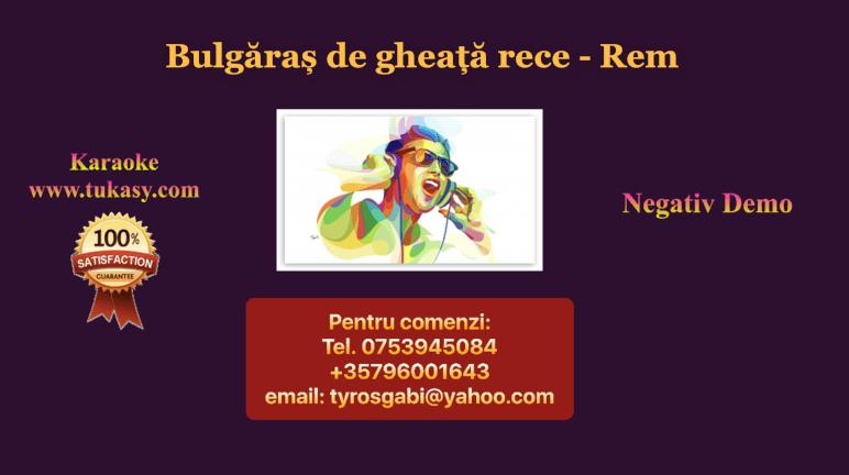 Bulgaras de gheata rece – Rem – Negativ Karaoke Demo by Gabriel Gheorghiu